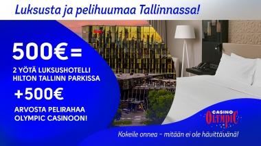 Luksusta ja pelihuumaa Tallinnassa!